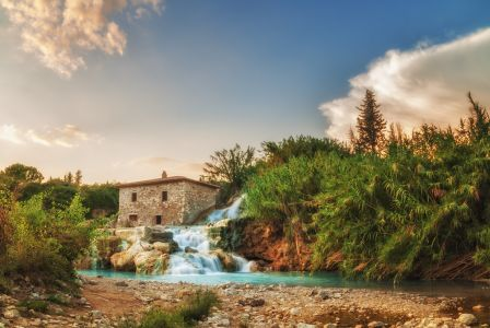 Thermal Springs In Saturnia, Tuscany, Italy